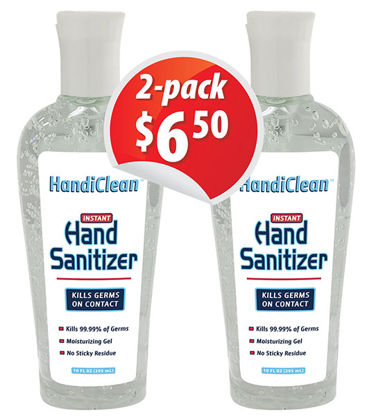 10 oz hand Sanitizer gel Squeeze 2-pack
