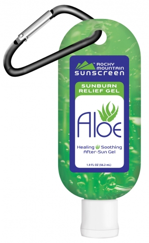 aloe vera gel in travel size carabiner tsa vacation soothe burn afer-care