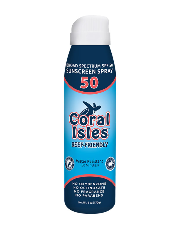 6-oz SPF 50 Spray-on Broad Spectrum Reef Friendly Sunscreen