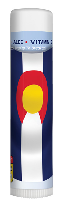 Rocky Mountain Sunscreen Colorado Flag Lip Balm SPF15 Melon Flavor