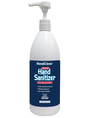 HandiClean Hand Sanitizer Gel Quart Pump